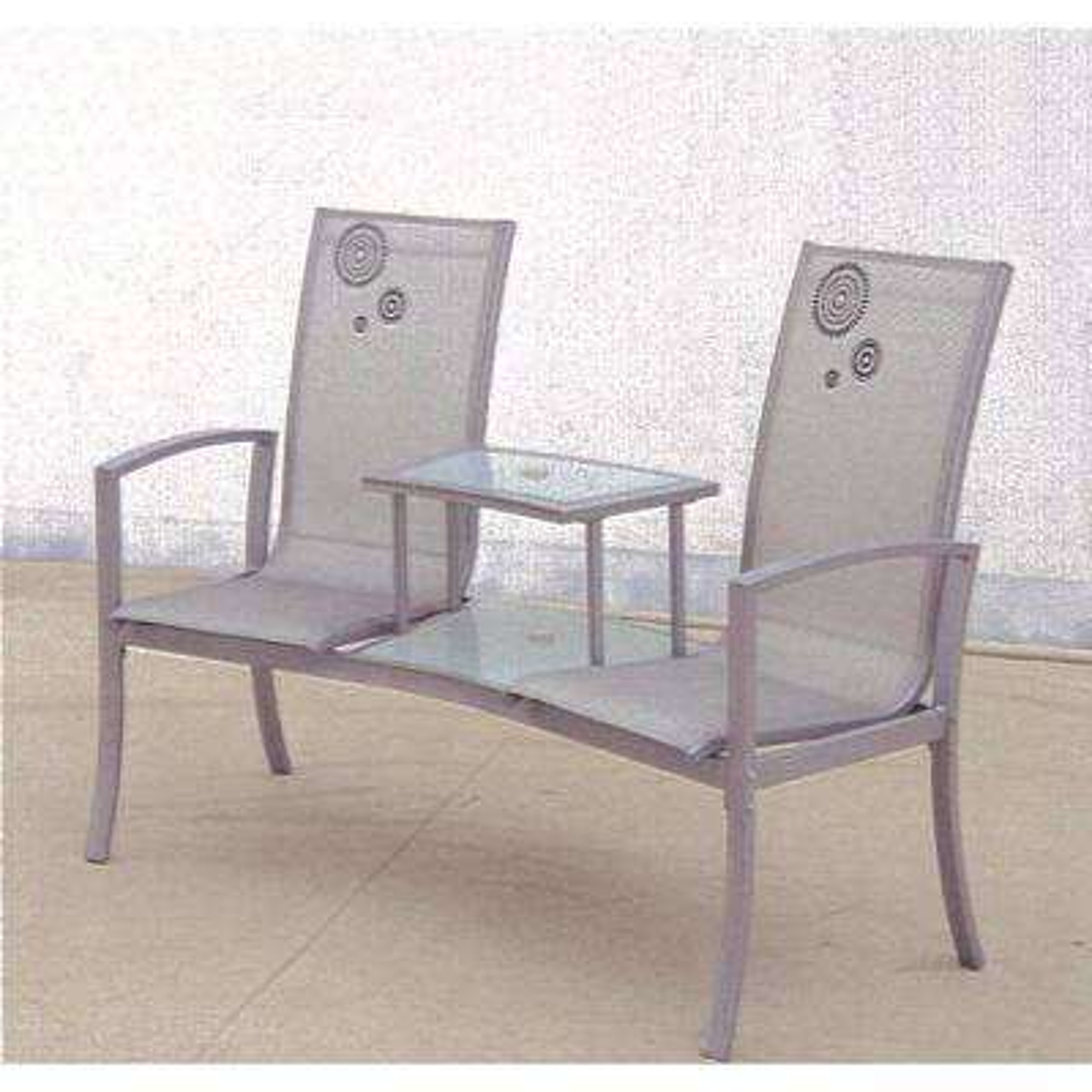 Havana Silver 1-Piece Metal Patio Conversation Set