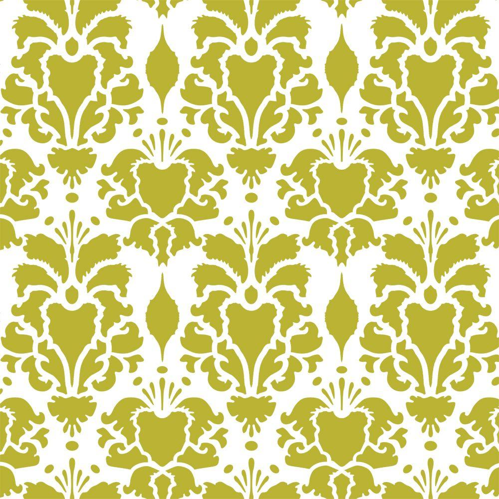 Hillsborough Damask Wall Stencil - 19.5 in. x 19.5 in. Stencil