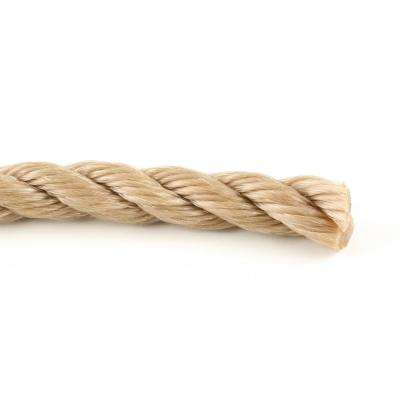 5/8 in. x 1 ft. Twisted Polypropylene Rope in Brown