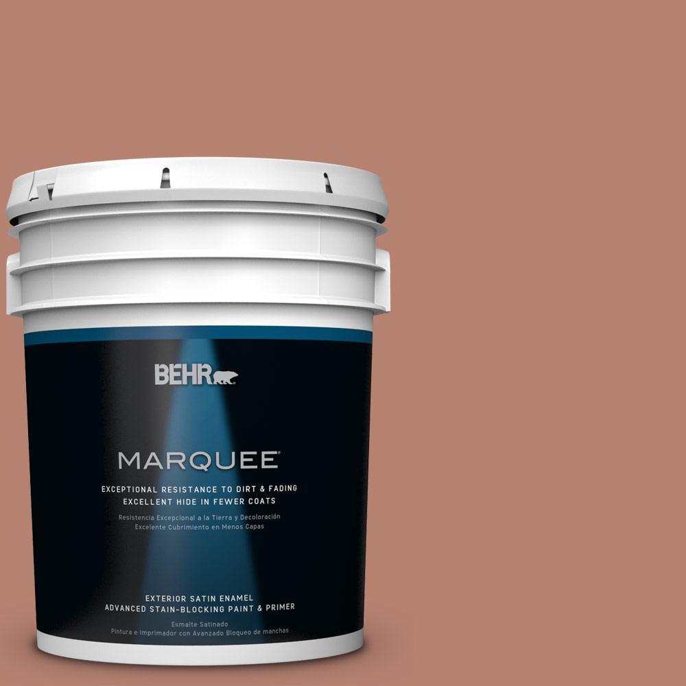 5-gal. #S180-5 Auburn Glaze Satin Enamel Exterior Paint