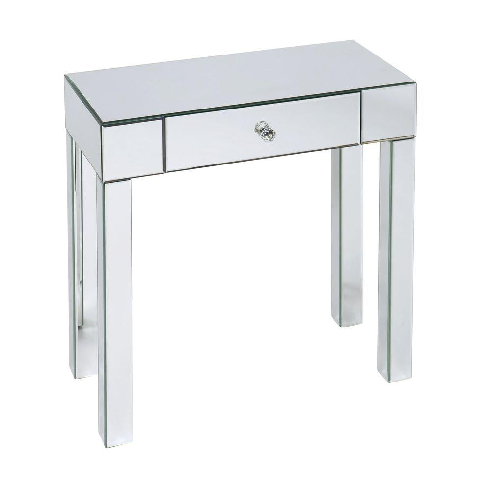 Home Depot Foyer Table : Ave six reflections silver mirror storage console table