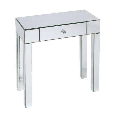 Reflections Silver Mirror Storage Console Table