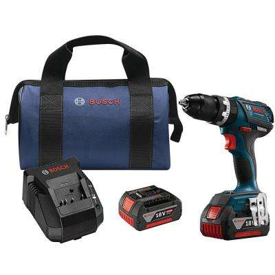 18V Lithium-Ion 1/2 in. Cordless EC Brushless Compact Tough Hammer Drill/Driver Kit