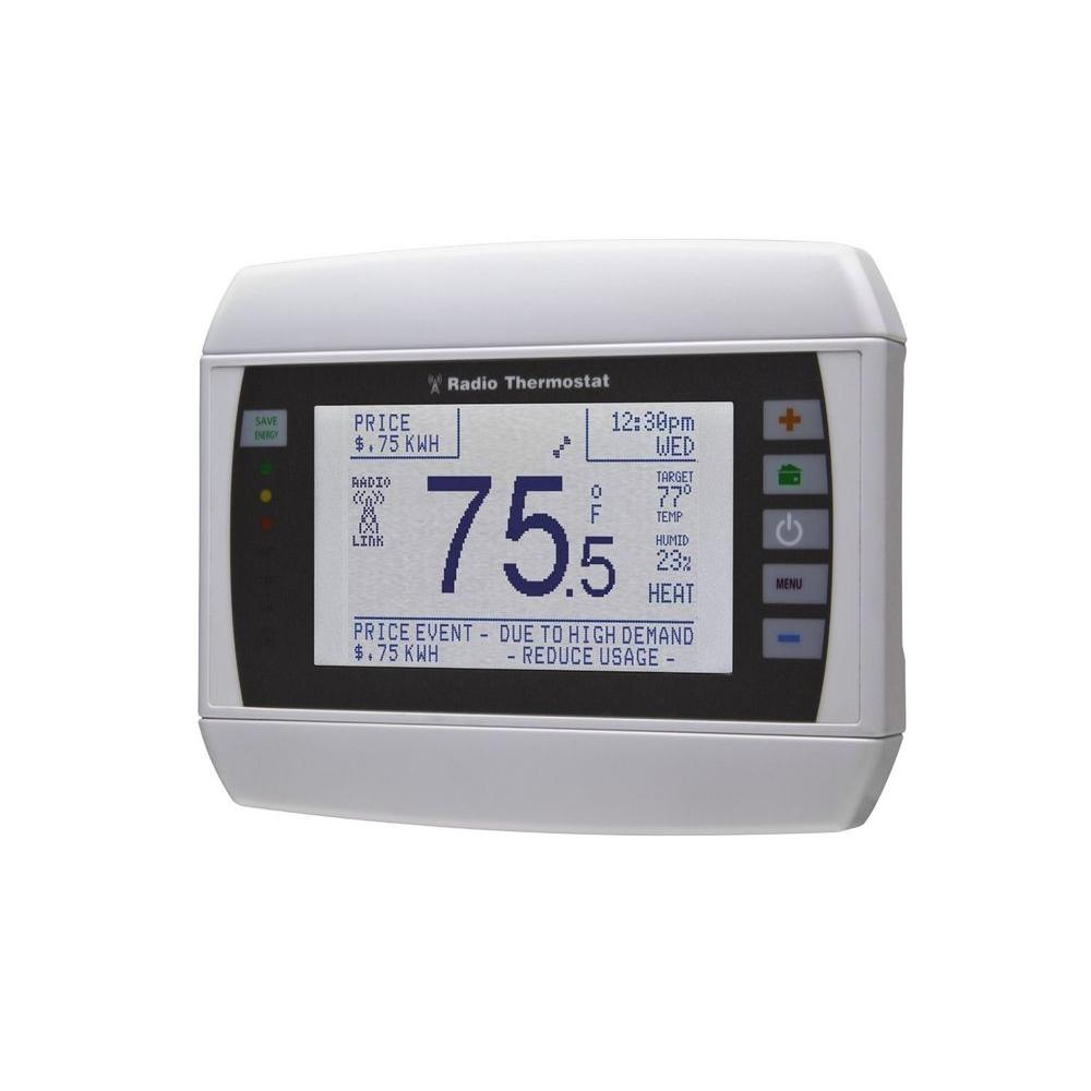 Radio Thermostat 7-Day Wi-Fi Programmable Thermostat, iOS and Android App Controls
