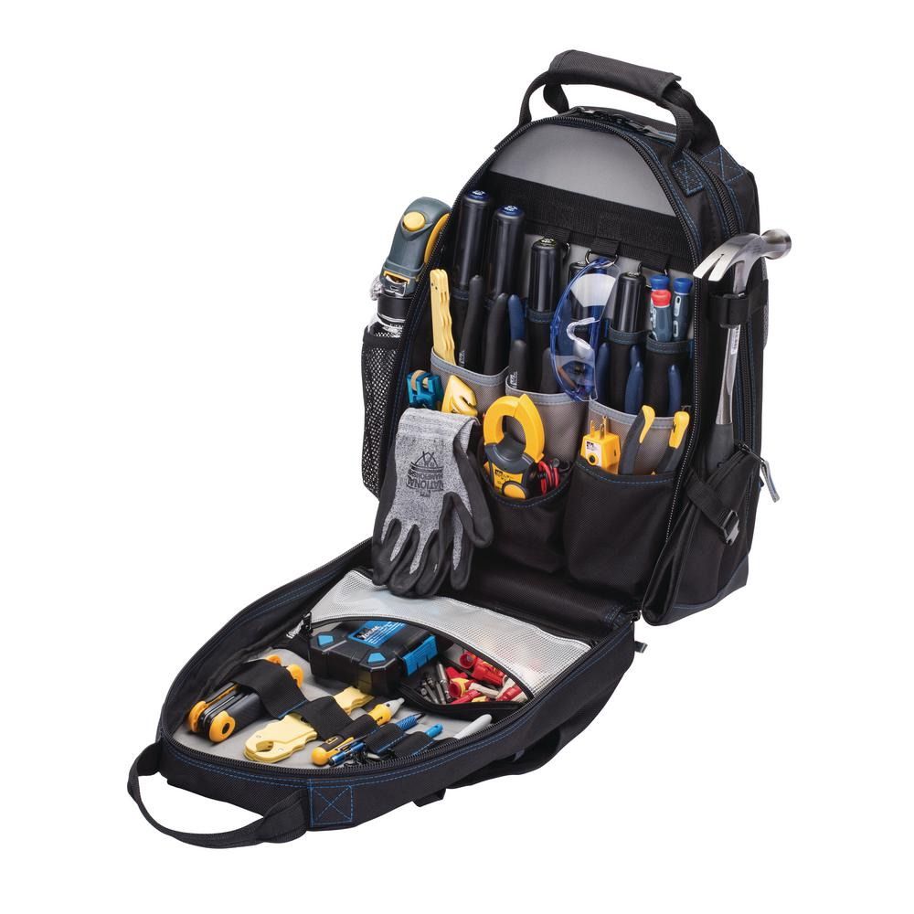 Ideal 18 in. Tool Bag Backpack Black