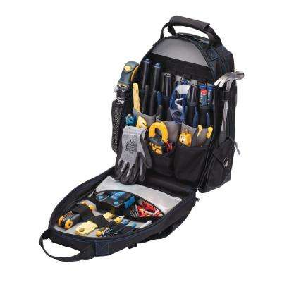18 in. Tool Bag Backpack Black