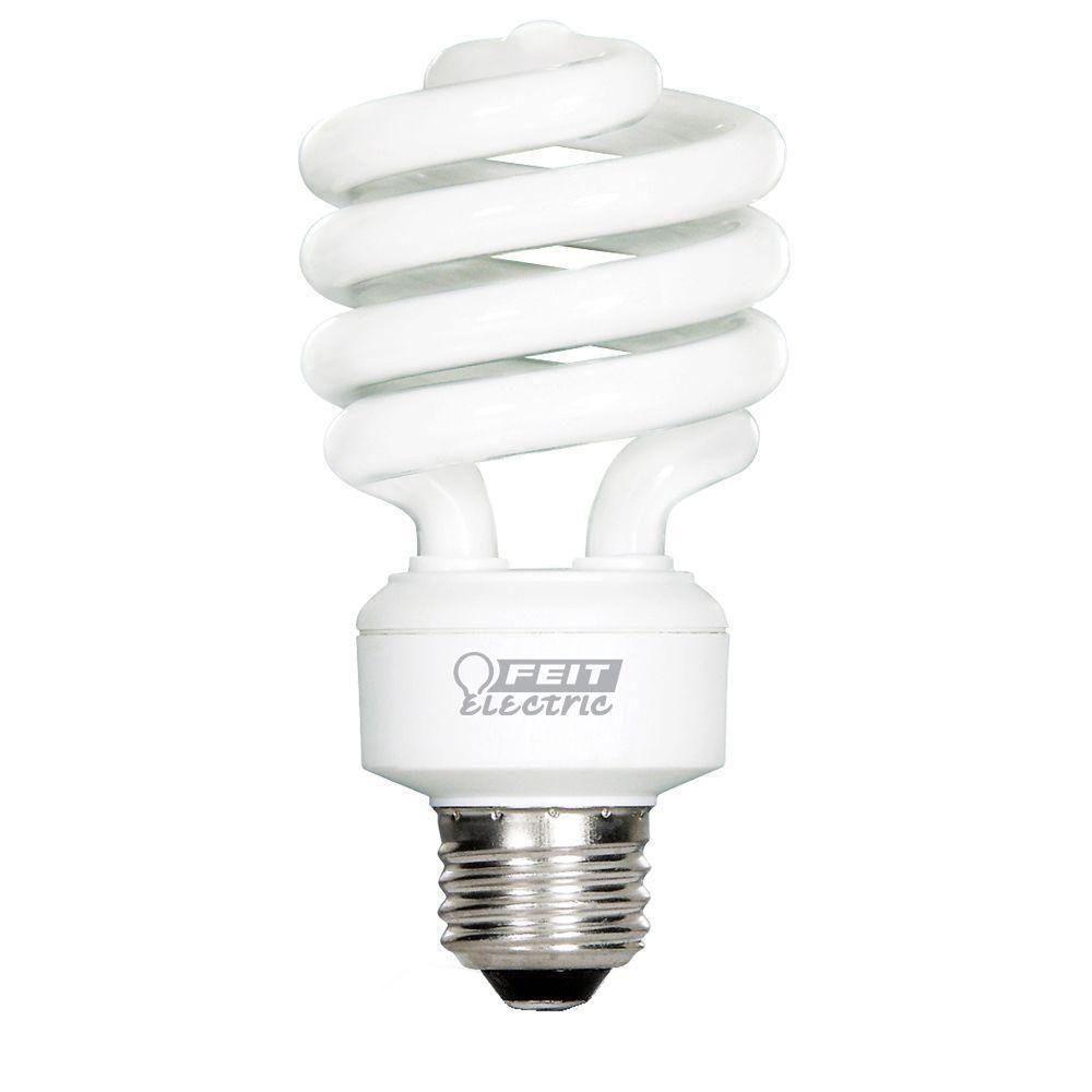 Feit Electric 100W Equivalent Soft White (2700K) Spiral Tuff Kote CFL Light Bulb (12-Pack)