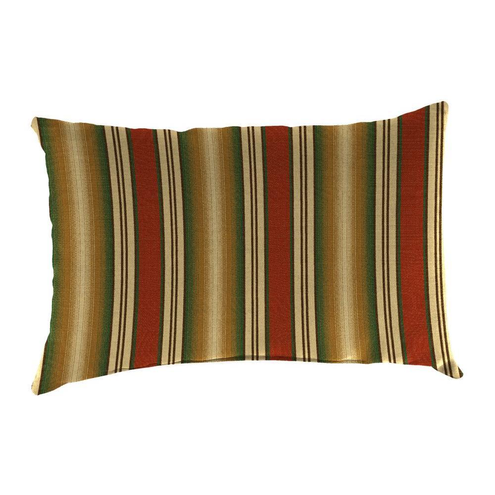 Jordan Manufacturing Sunbrella 9 in. x 22 in. Weston Ginger Lumbar Outdoor Pillow