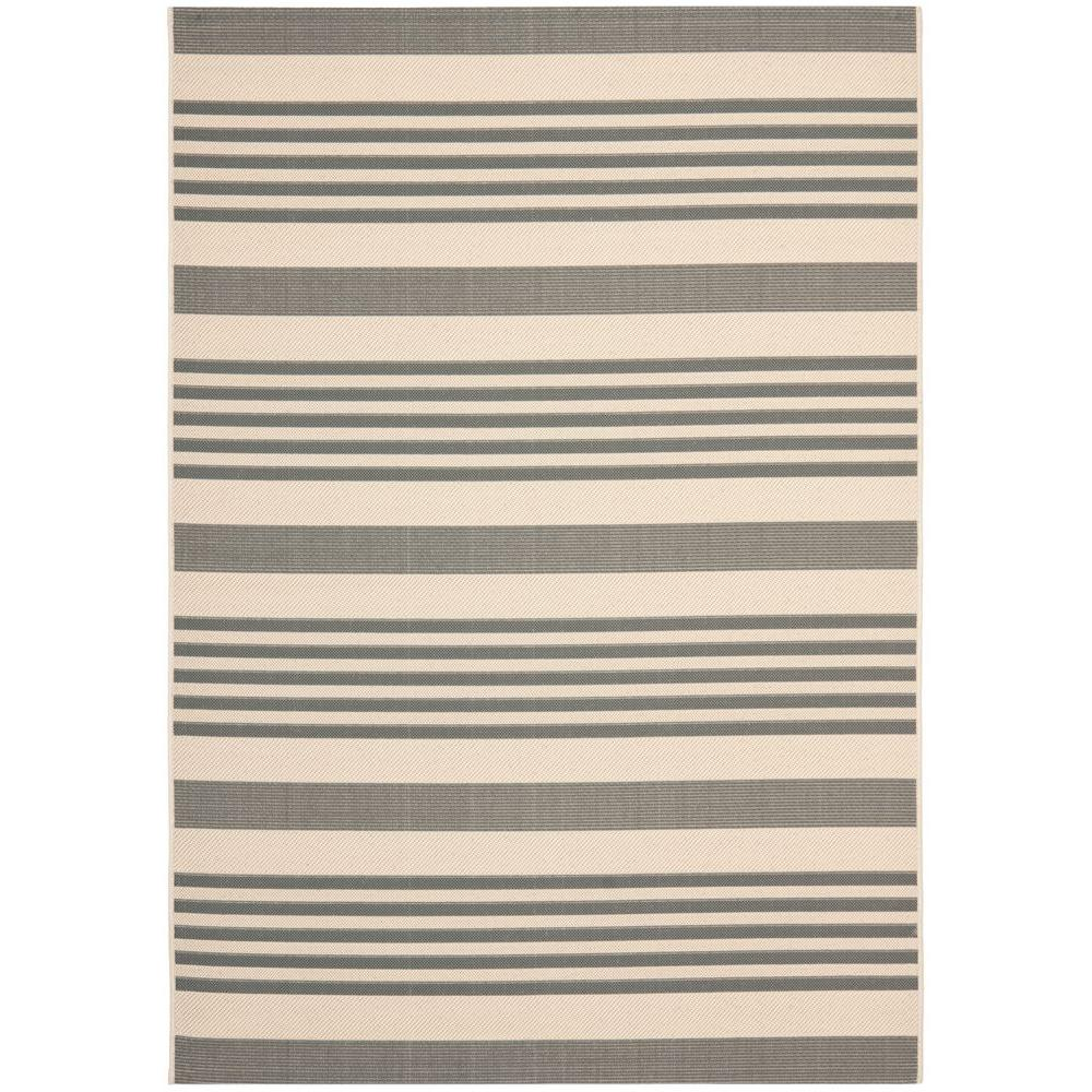 Safavieh Courtyard Gray/Bone 4 ft. x 5 ft. 7 in. Indoor/Outdoor Area Rug