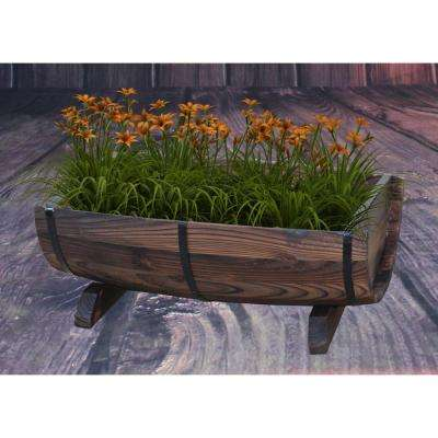 Half Barrel Garden Planter   Medium