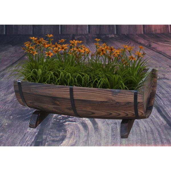 Gardenised Half Barrel Garden Planter - Medium