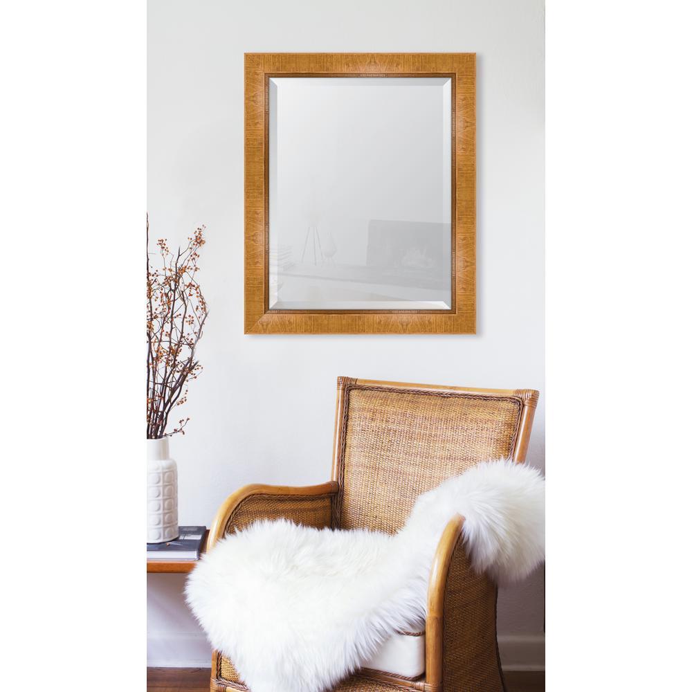 28 in. x 34 in. Framed 3 in. Natural Scoop Montalcino Resin Frame Mirror