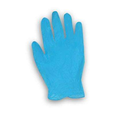 8-mil Blue Nitrile Gloves in Dispenser Box - Large/XL (50-Count)