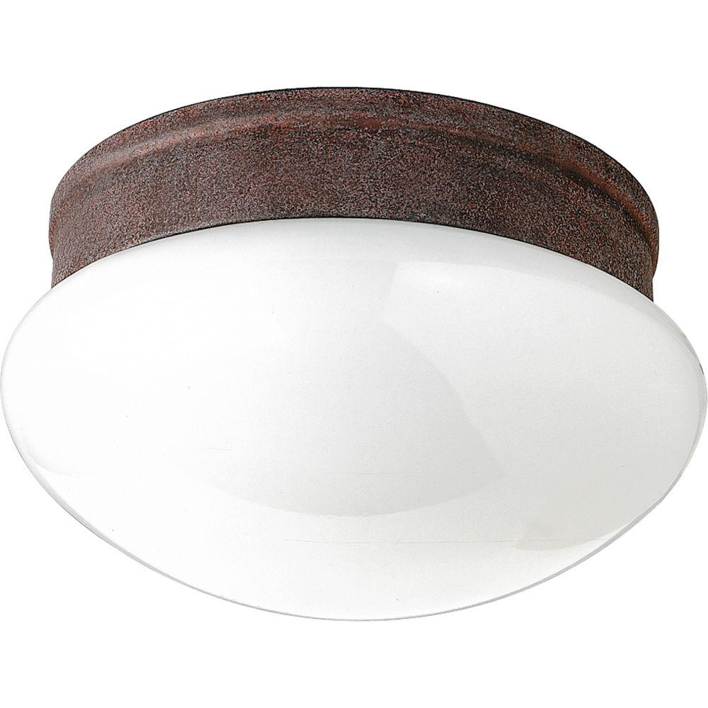 Progress Lighting 2-Light Cobblestone Flushmount-DISCONTINUED
