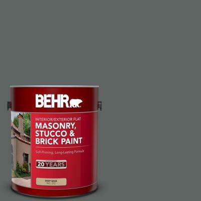 1 gal. #BXC-41 Charcoal Flat Interior/Exterior Masonry, Stucco and Brick Paint