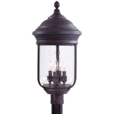 Amherst 4-Light Roman Bronze Outdoor Post Mount