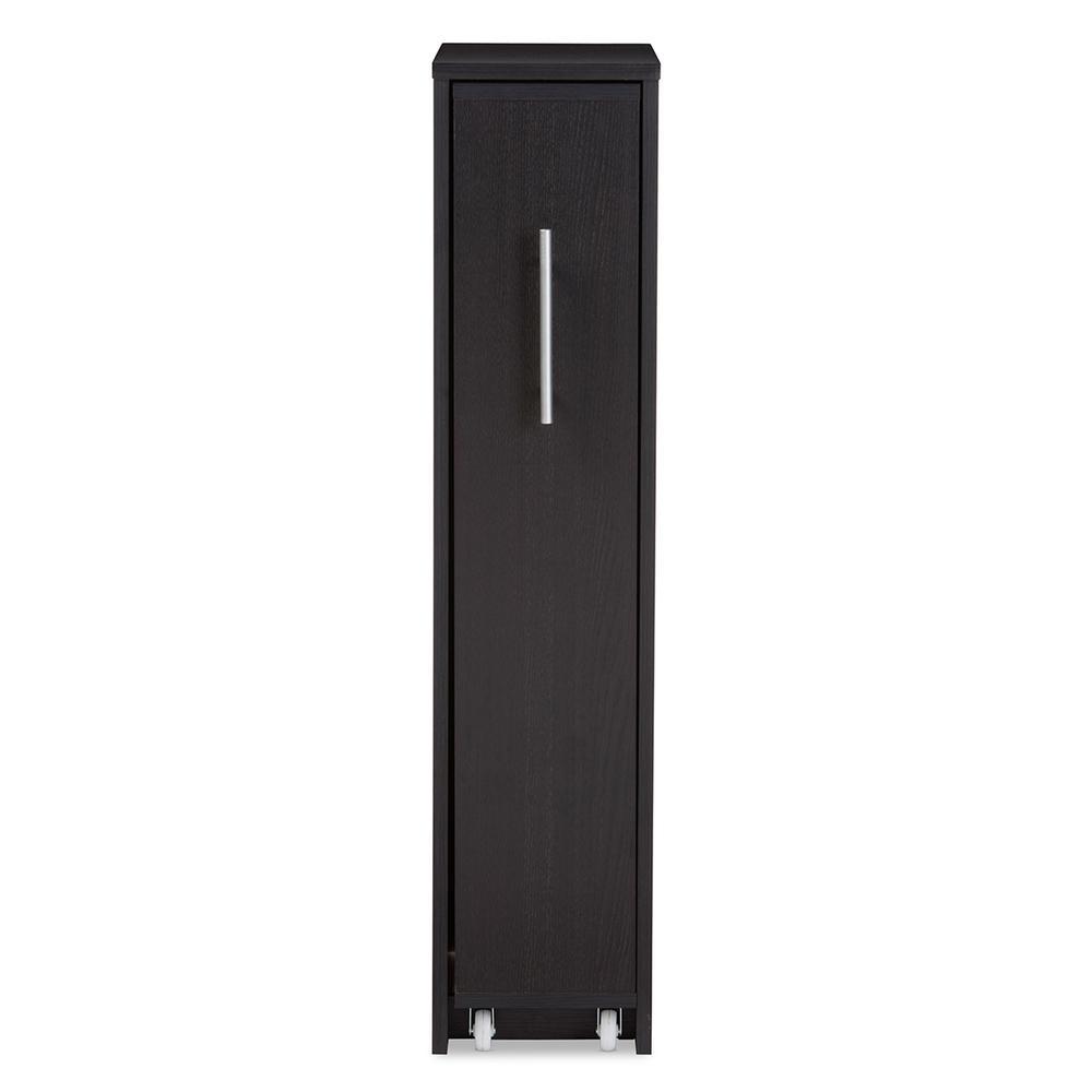 Baxton Studio Lindo Contemporary Dark Brown Storage Cabinet