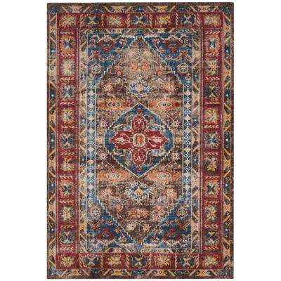 Bijar Brown/Royal 7 ft. x 9 ft. Area Rug