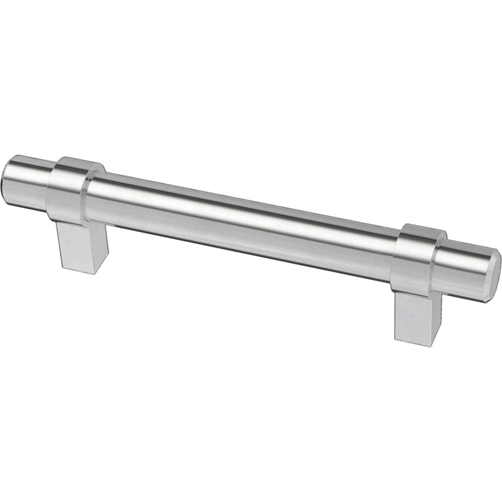 Liberty Essentials 3-3/4 in. (96mm) Center-to-Center Wrapped Chrome Plated Bar Drawer Pull (12-Pack)