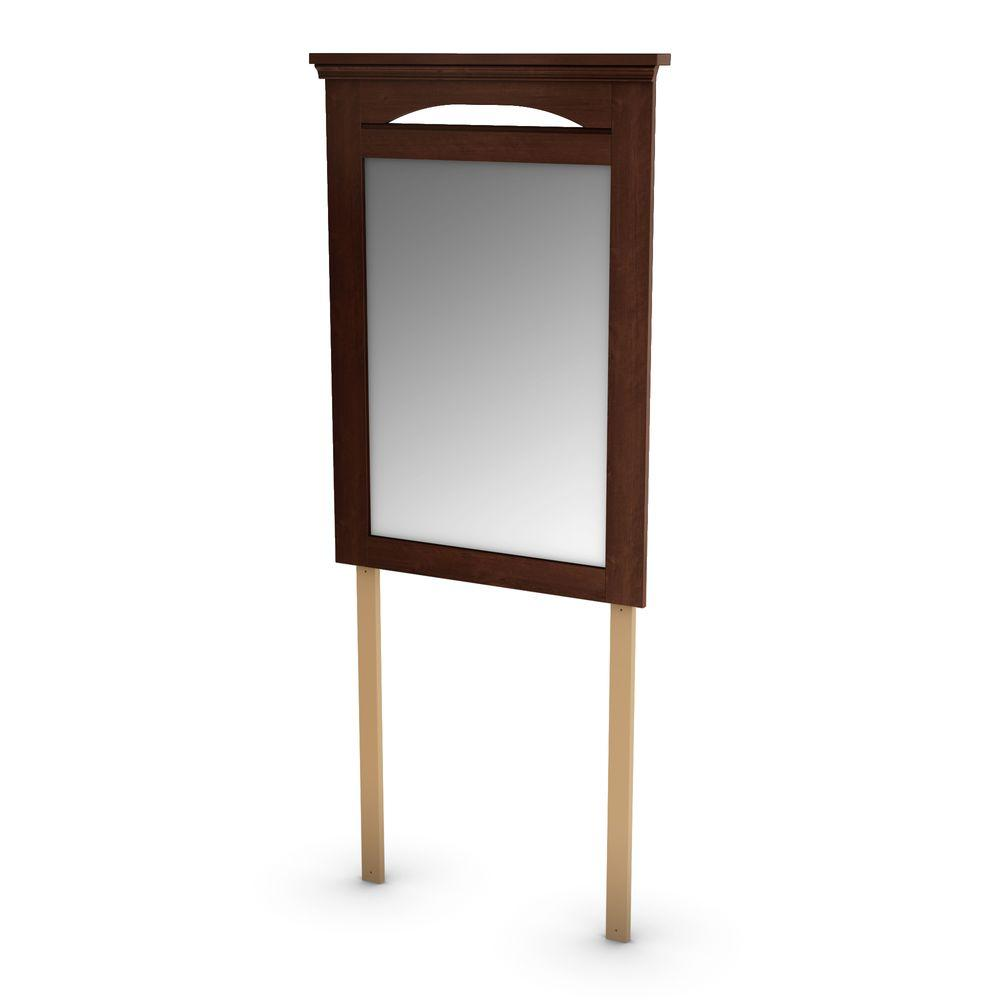 South Shore Cmabridge Sumptuous 46 in. x 23.25 in. Cherry Framed Mirror-DISCONTINUED