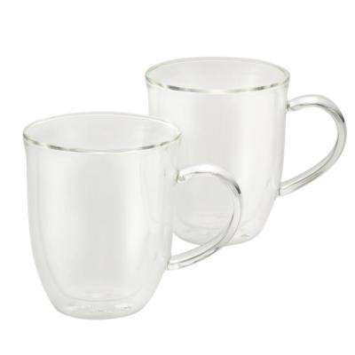 Coffee 2-Piece Insulated Glass Latte Cup Set