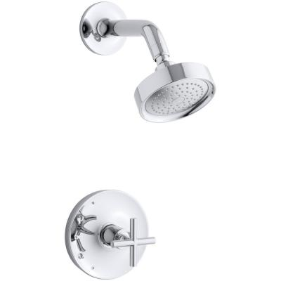 Purist 1-Spray 6.5 in. Single Wall Mount Fixed Shower Head in Polished Chrome