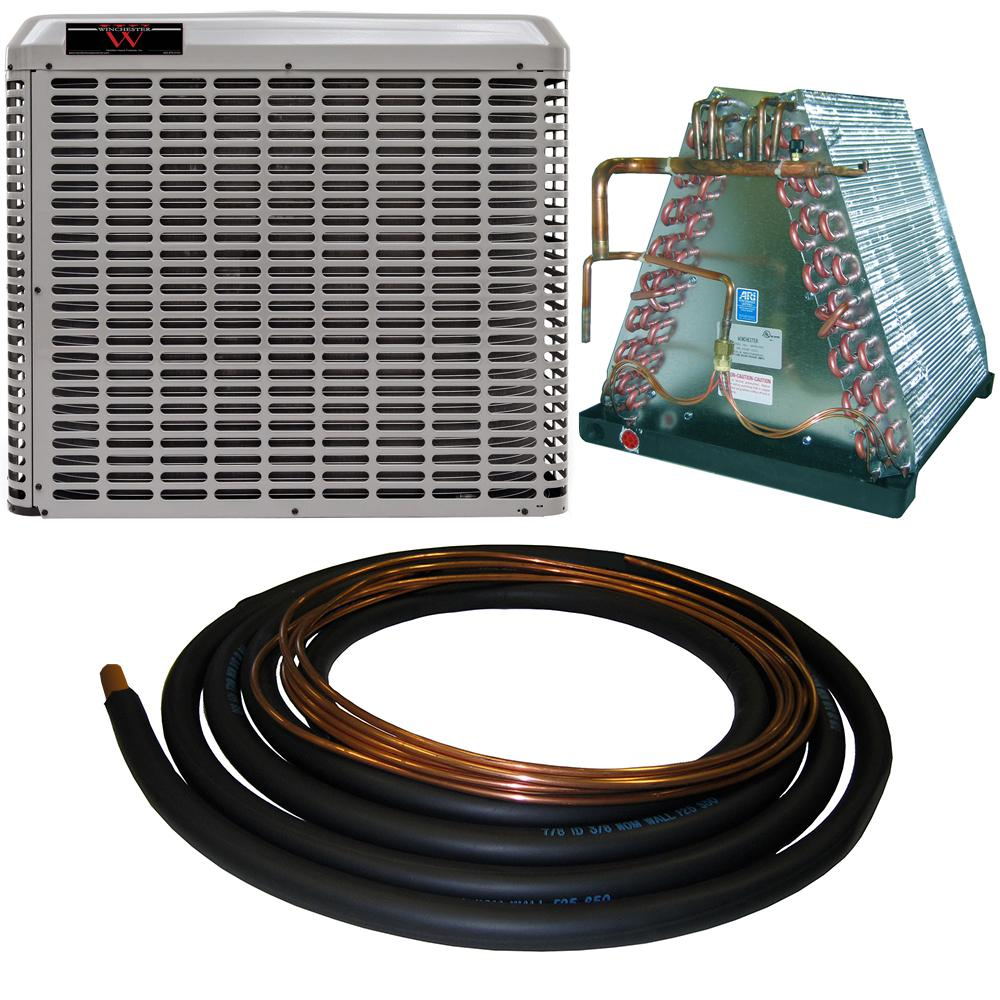 Winchester 2 Ton 14 Seer Mobile Home Split System Central Air Conditioning System With 30 Ft Line Set 4wmh24s 30 The Home Depot