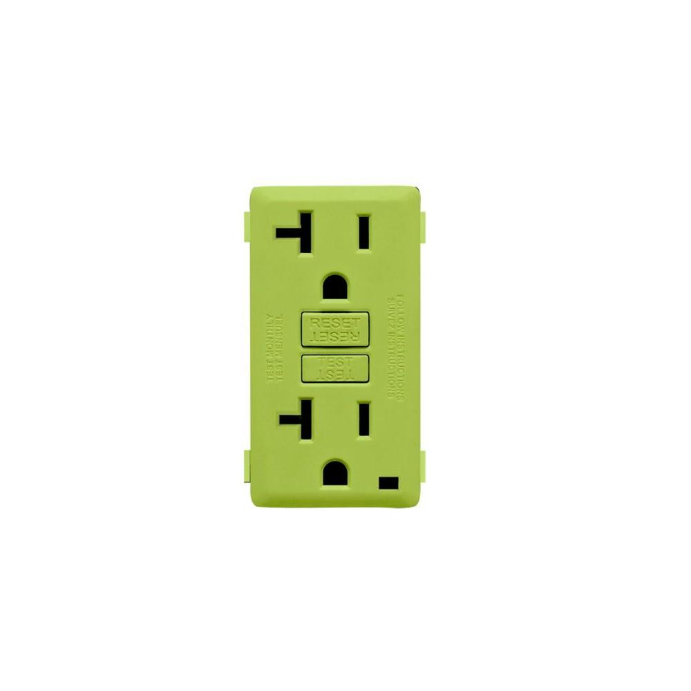 Leviton Renu 20-Amp GFCI Granny Smith Apple Color Change Kit-DISCONTINUED