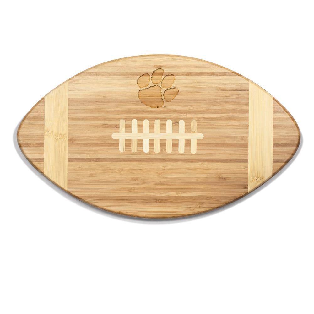 Clemson Tigers Touchdown Bamboo Cutting Board