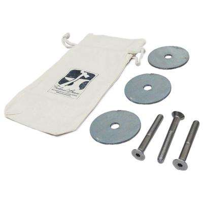 Post Mount Galvanized Steel Bearing Plate Kit (3-Pack)