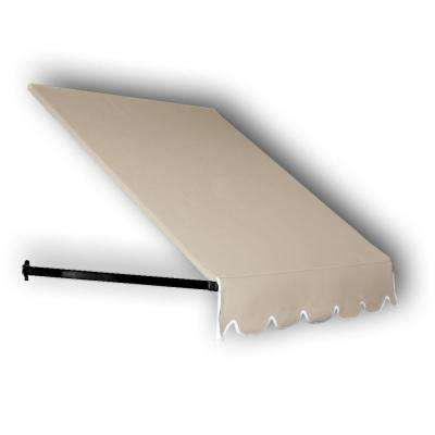 12 ft. Dallas Retro Window/Entry Awning (24 in. H x 36 in. D) in Linen
