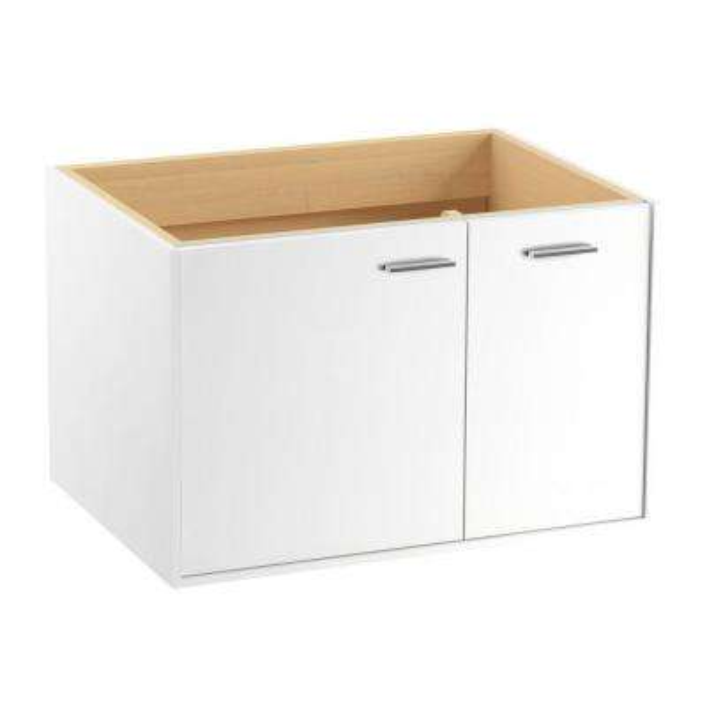 Jute 30 in. Vanity Cabinet in Linen White