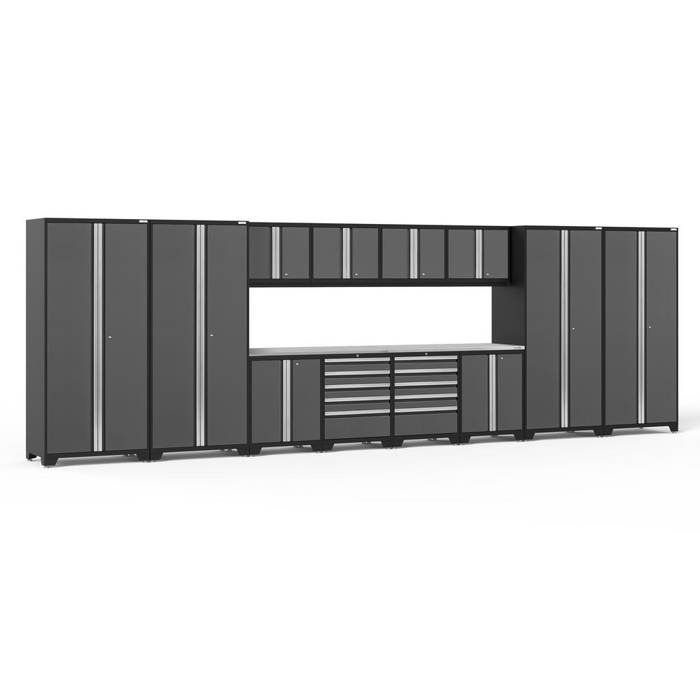 Bon This Review Is From:Pro 3.0 85.25 In. H X 256 In. W X 24 In. D 18 Gauge  Welded Steel Garage Cabinet Set In Gray (14 Piece)