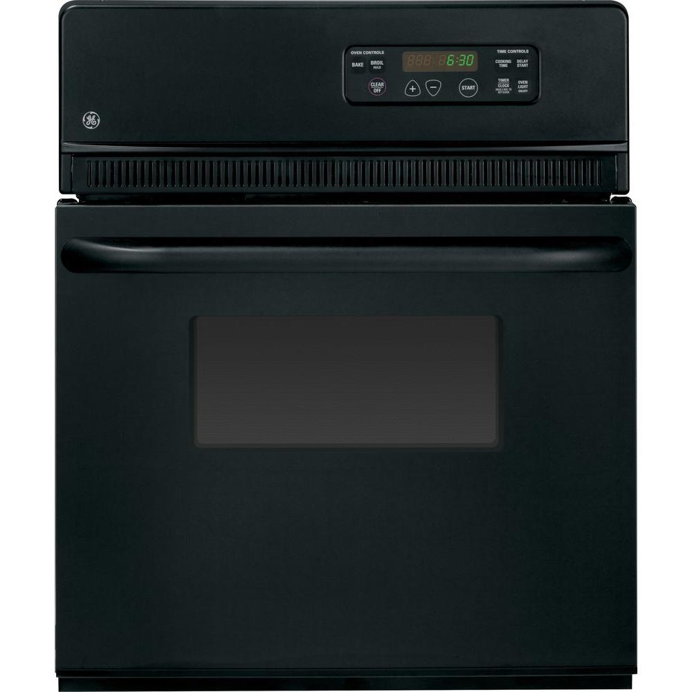 GE 24 in. Single Electric Wall Oven in Black