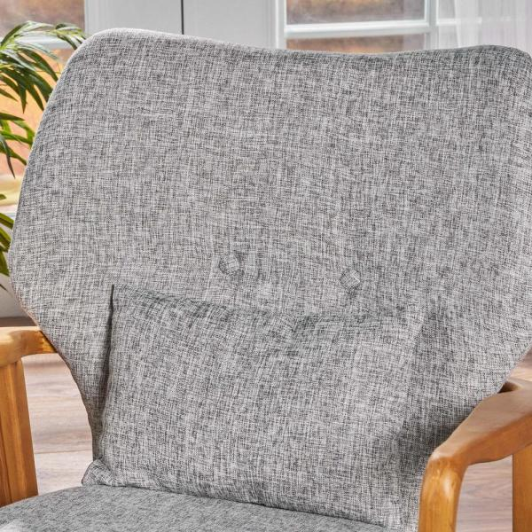 Noble House Benny Mid Century Modern Light Gray Tweed Fabric Rocking Chair 16592 The Home Depot,How To Make A Candle Wick Stay