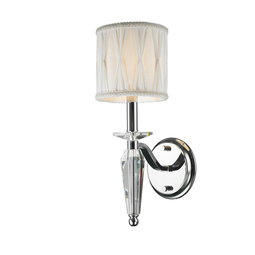 Worldwide Lighting Gatsby Collection 1 Light Chrome Sconce With