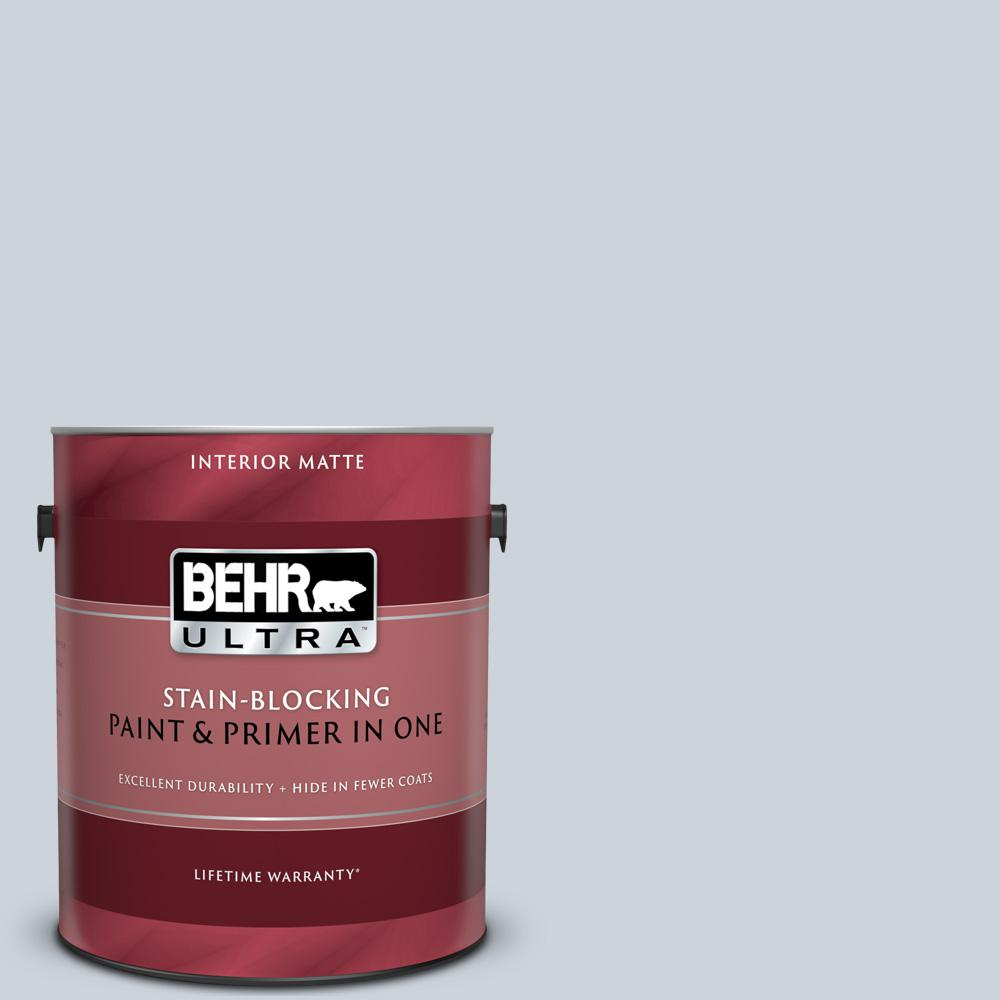BEHR ULTRA 1 gal  #UL230-11 Polar Drift Matte Interior Paint and Primer in  One