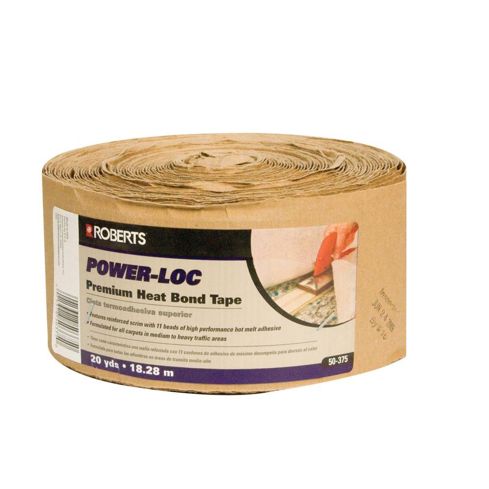 Roberts 50-375, 3.5 in. wide, 60 Rolls of Power-Loc Premium Heat Bond Carpet Seaming Tape-DISCONTINUED
