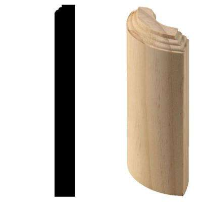 3/4 in. x 3/4 in. x 7 in. Hardwood Radius Base Block Moulding