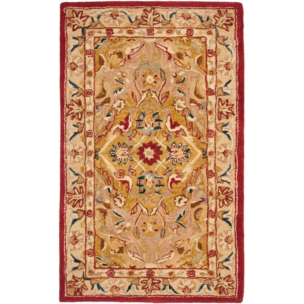Anatolia Gold/Ivory 4 ft. x 6 ft. Area Rug