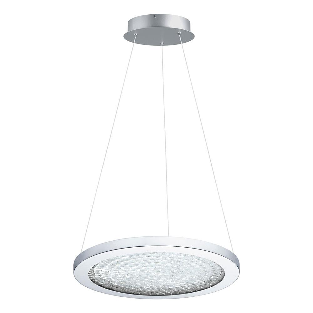 Eglo Arezzo 3 1x19-Watt LED 15 in. 1-Light Pendant with Chrome
