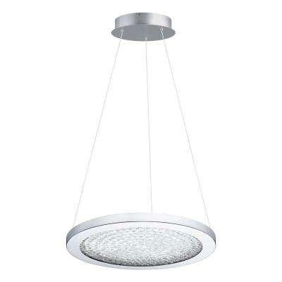 Arezzo 3 1x19-Watt LED 15 in. 1-Light Pendant with Chrome