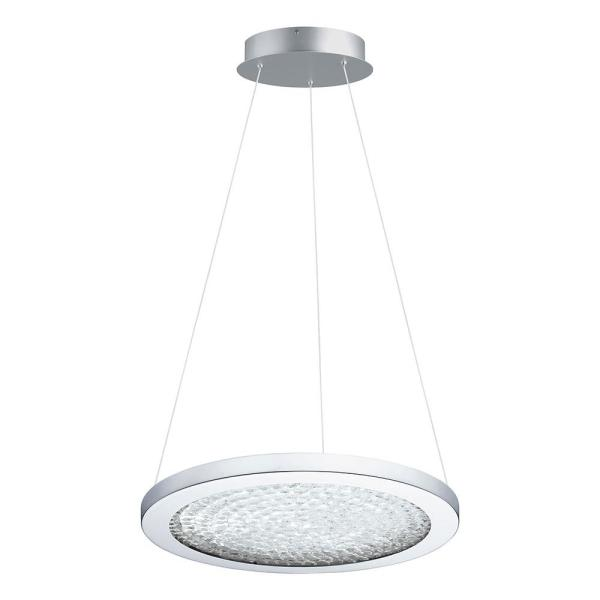 1-Light Arezzo 3 1x19-Watt LED 15 in. Pendant with Chrome