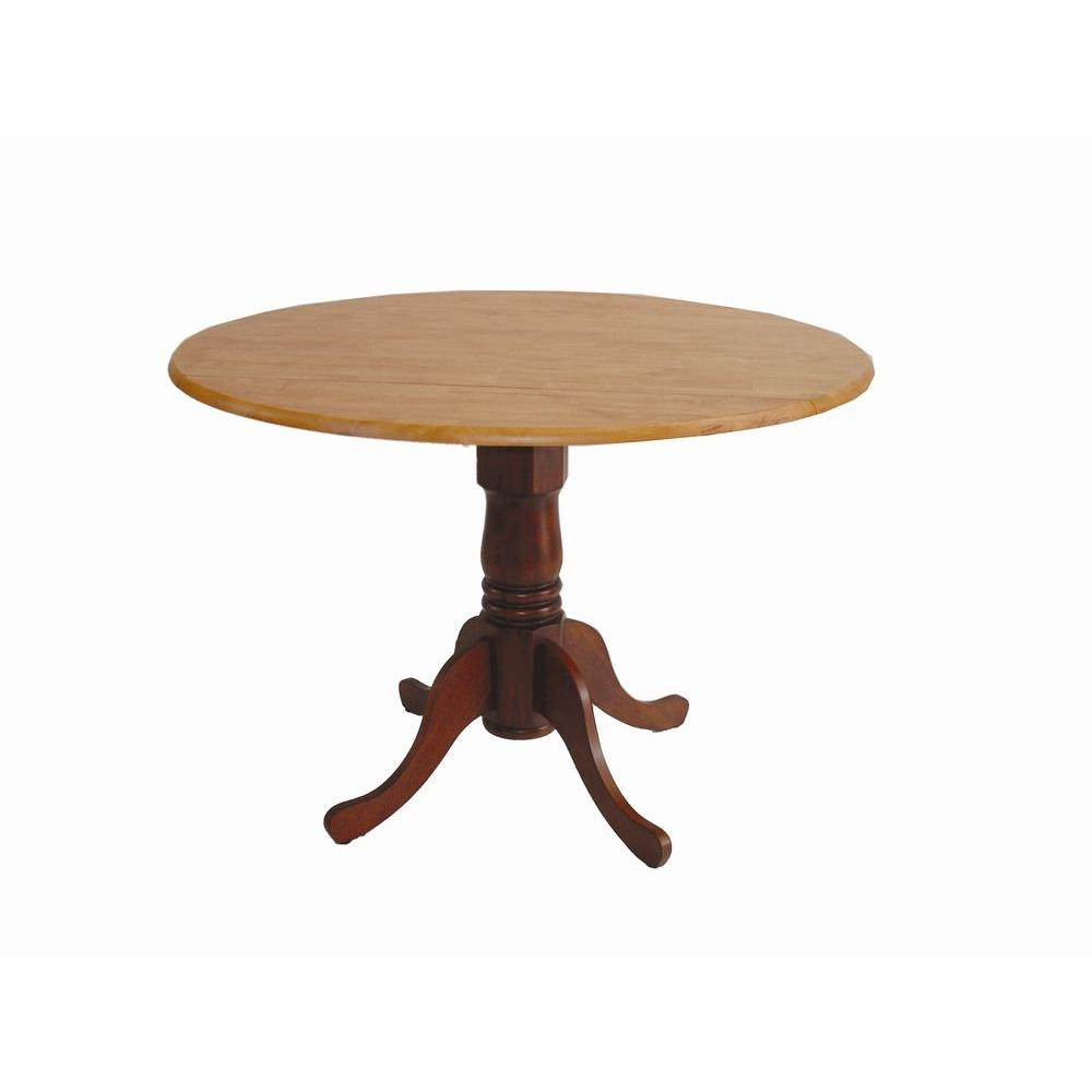 Cinnamon And Espresso Drop Leaf Dining Table