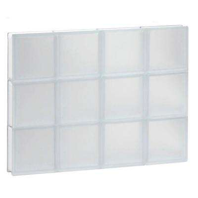 31 in. x 23.25 in. x 3.125 in. Non-Vented Frosted Glass Block Window