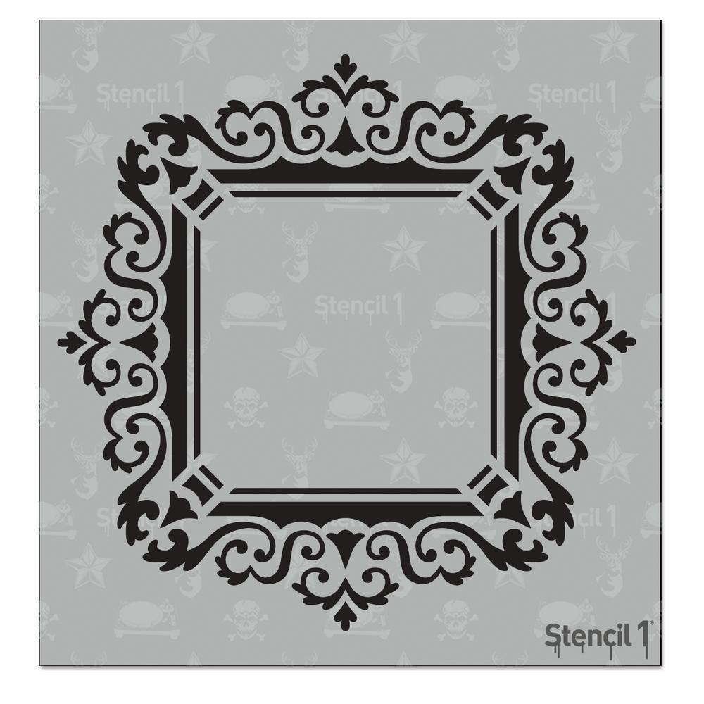 Stencil1 rococo frame 4 small stencil s101215s the home depot stencil1 rococo frame 4 small stencil jeuxipadfo Image collections