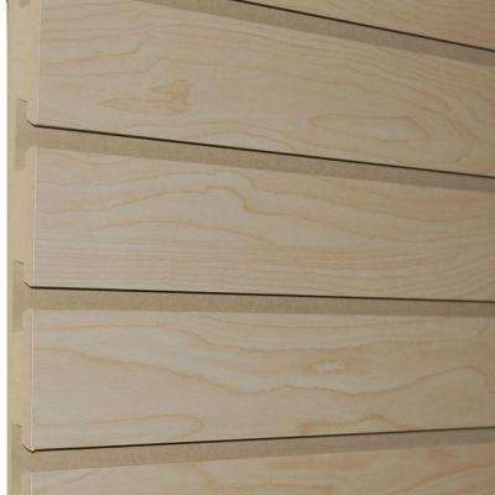 3/4 in. x 4 ft. x 8 ft. 3 in. OC Hardrock Maple Melamine Slatwall (5-Pack)