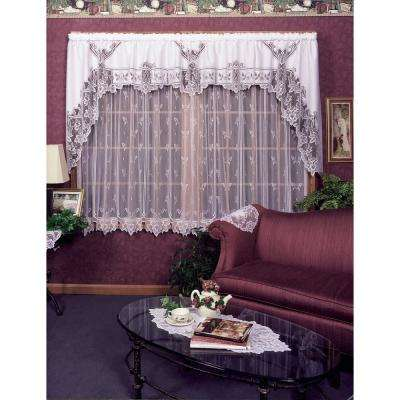 Heirloom 60 in. L Polyester Valance in White