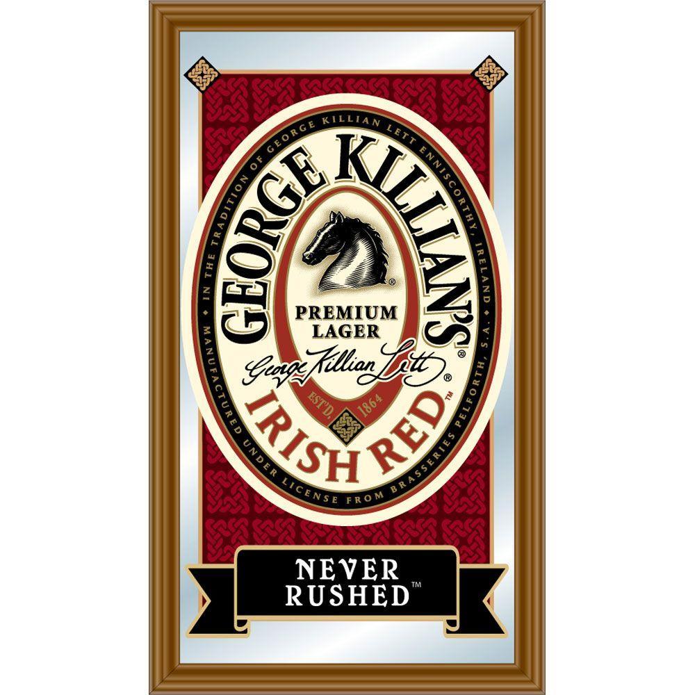 Trademark Killians 15 in. x 26 in. Brown Wood Framed Mirror