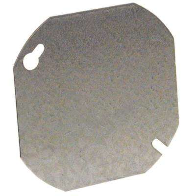 4 in. Octagon Flat Cover Blank